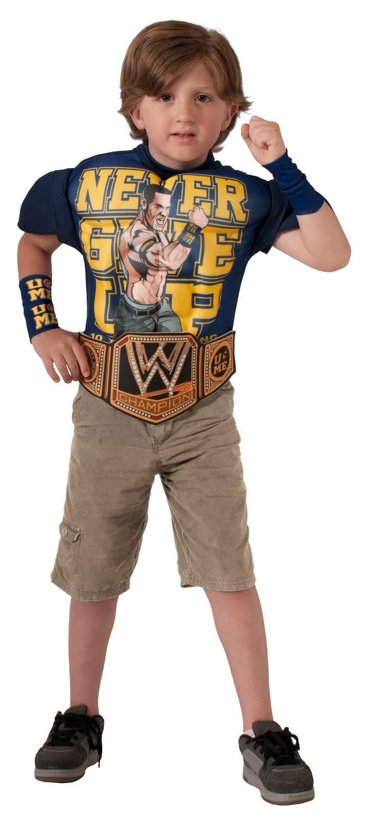 WWE - Deluxe Kids John Cena Muscle Chest Shirt Set from CostumeExpress.com
