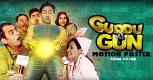 #PicksAndPiques #GudduKiGun * *Cheeky but not funny enough. Shooting blanks instead of firing on all cylinders. A wannabe rampaging sex comedy that prefers to play safe than be sorry(censors). Intermittently funny due to a few smart lines, this one is more of a #Mastram than a #Hunterrr. #KunalKhemu #ParullGossain #EmenoxMedia #SumeetVyas #PayelSarkar #AparnaSharma #SheershakAnand #ShantanuRayChibber 130m