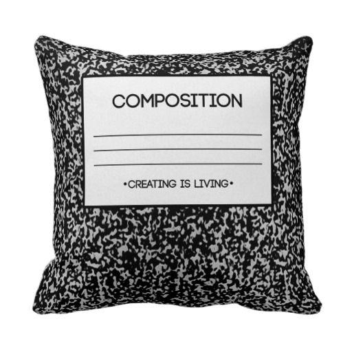Composition Notebook Design Throw Pillow Composition