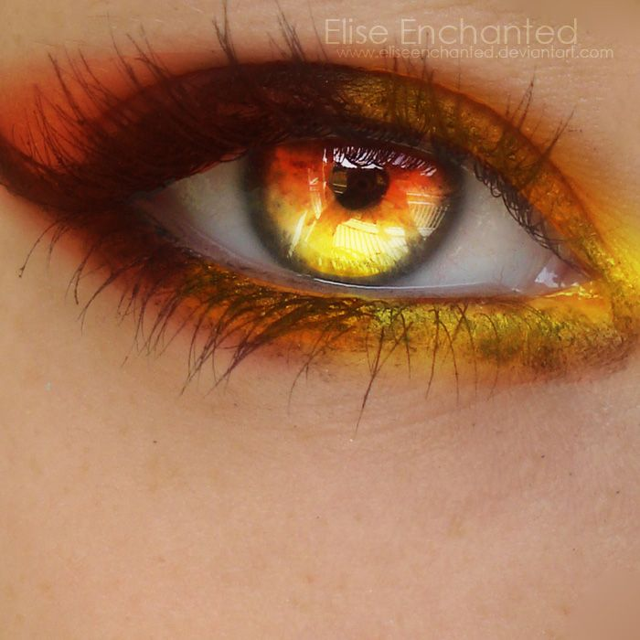 some leos have awesome eyes!!! I know I do very similar to these flecks of honey encircled by green Fire by *EliseEnchanted