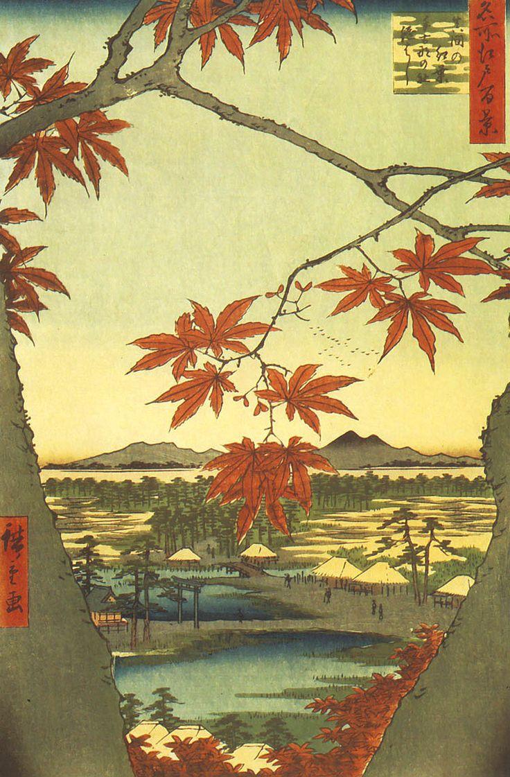 Hiroshige , Maple , woodprint