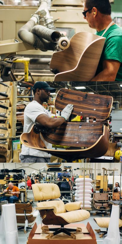 @hermanmiller Making an Eames Lounge Chair and Ottoman in Michigan