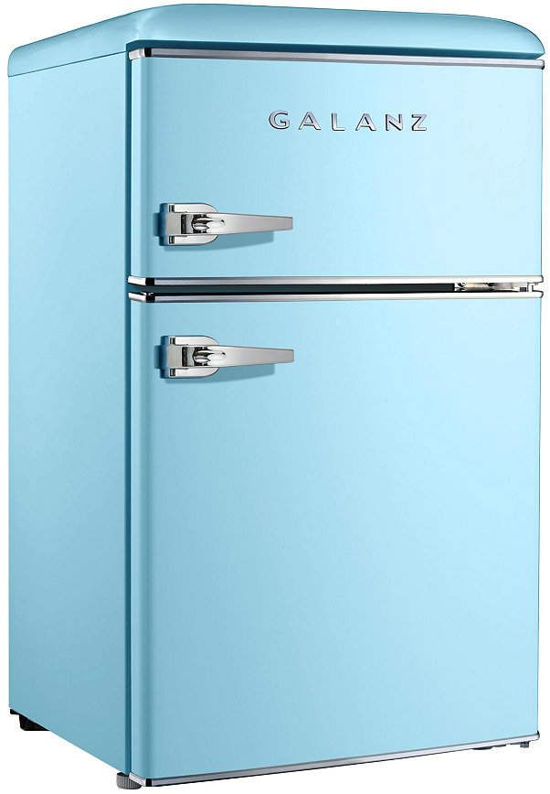 Galanz 3 1 Cu Ft Dual Door Retro Style Mini Fridge Reviews Small Appliances Kitchen Macy S In 2020 Mini Fridge Modern Appliances Retro Fashion