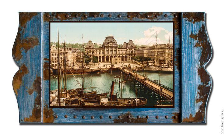 """Купить Панно """"Страницы синей книги"""". Франция 008 - панно для интерьера, панно, лофт, прованс"""