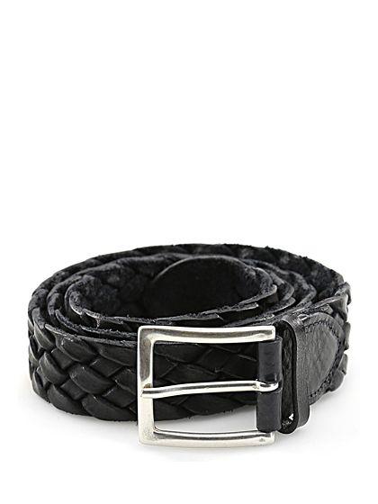 Sergio Gavazzeni - Cinture - Accessori - Cintura in pelle intrecciata, con fibbia silver, altezza 3,5 cm. - BLU - € 89.00
