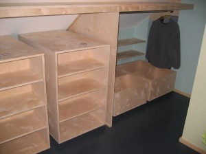 more of the roll out knee wall closet idea Kneewall