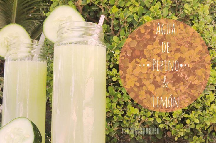 Agua de Pepino para Adelgazar on Cocina Sana