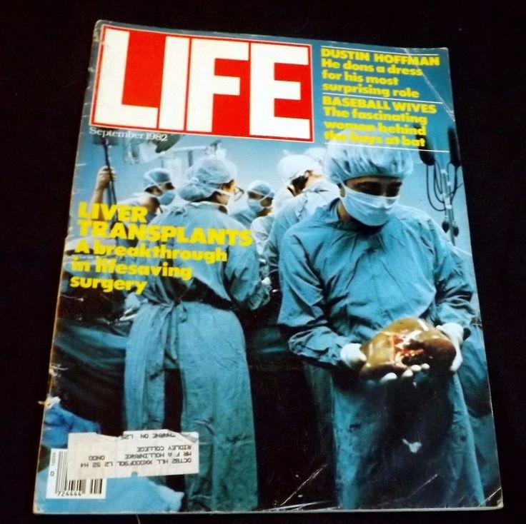 Liver Transplants Dustin Hoffman Baseball Wives September 1982 Life Magazine