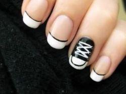 sneaker nails=super cute!Convers Nails, Nails Art, Cute Nails, Nails Design, Convers Shoes, Nails Ideas, Nails Polish, Converse Nails, Fingers Nails