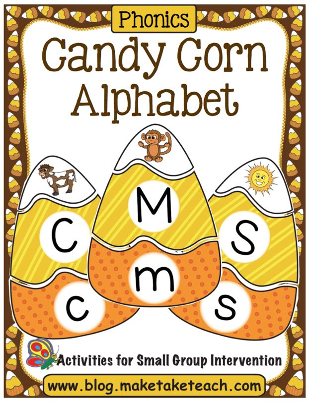 Candy Corn Literacy Halloween Games For Kids