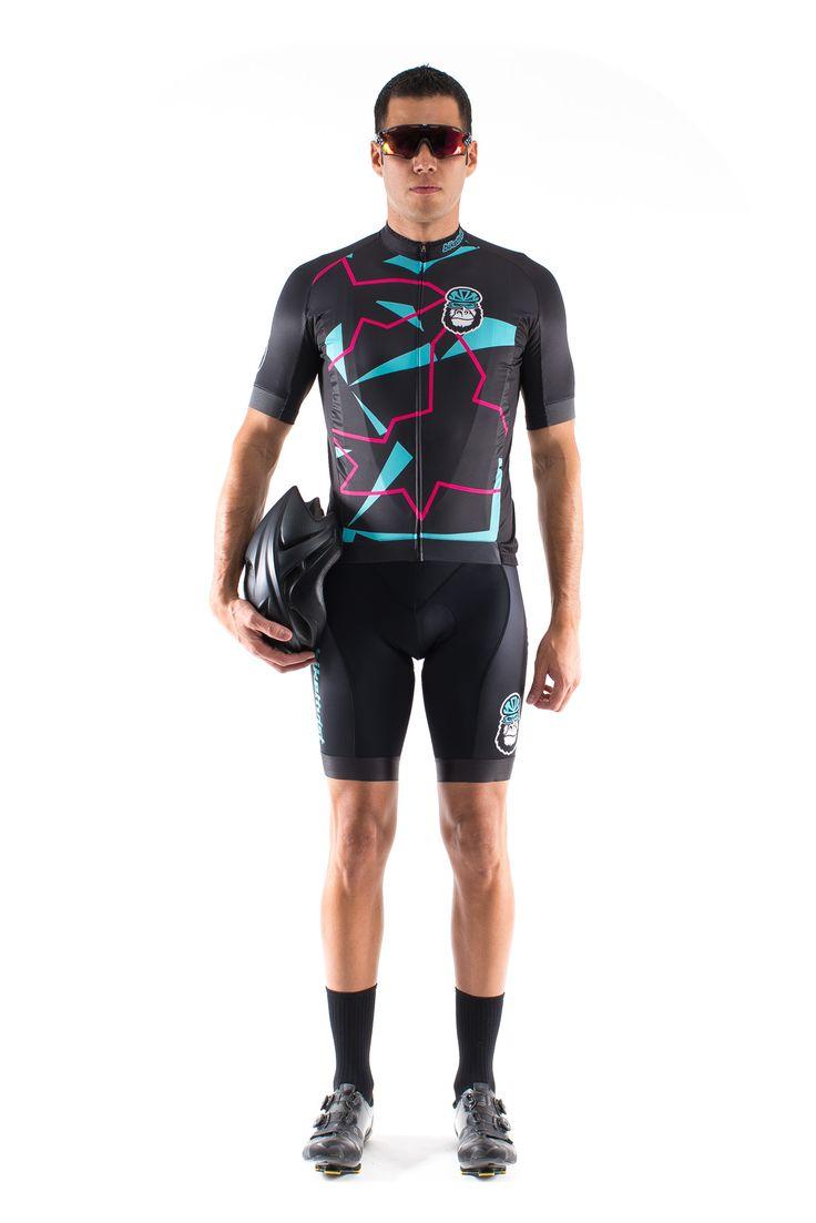 Biketivist - The Sharp Electric Cyan Jersey #LookRadNotPretty #BornToRide #Biketivist #Jersey #Cycling