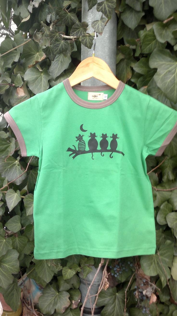 grass green short sleeve kids t-shirt