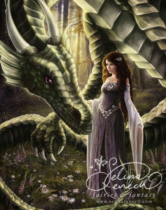 To Meet a Dragon 8x10 Art Print by Selina Fenech