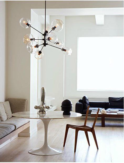 .Lamps, Dining Room, Lights Fixtures, Light Fixtures, Interiors, Tulip Tables, Lindsey Adelman, Diningroom, Design