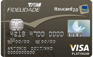 TAM   Fidelidade   Cartão de Crédito Visa Platinum   Itaucard 2.0