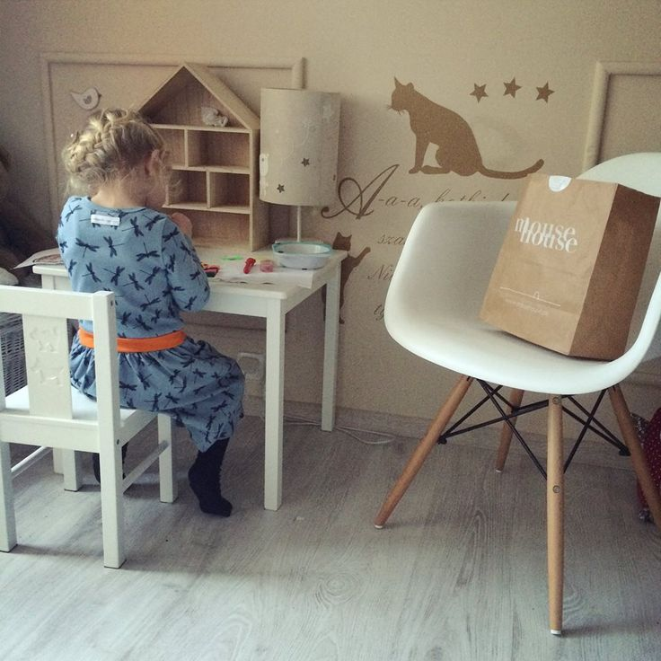 nosweet, dragonfly blue dress, mousehouse, kids, room, cat on the wall, interior design, white, girl, paper bag