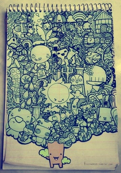 so cool - i would love to doodle something like this