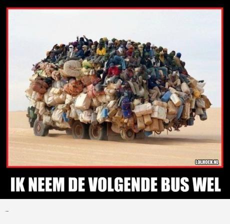 haha, lijkt me inderdaad een beter idee om de volgende bus te nemen :P