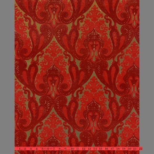 red flocked bordello-esqueOrnate Indian, Decor Ideas, Damasks Velvet, Velvet Flock, Living Room, Indian Damasks, Flock Wallpapers, Red Kismet, Kismet Ornate