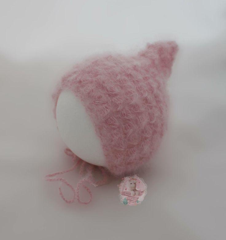 Gehäkelte Haube aus Mohair & Seide / Crochet Bonnet