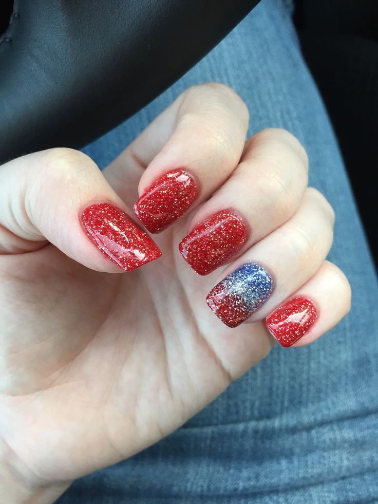 Patriotic 4th Of July Nails Nexgen Ombr 233 Hair Nails