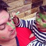 """I love my Daddy... He lets me paint his face green!""  #MyDadMyHero"