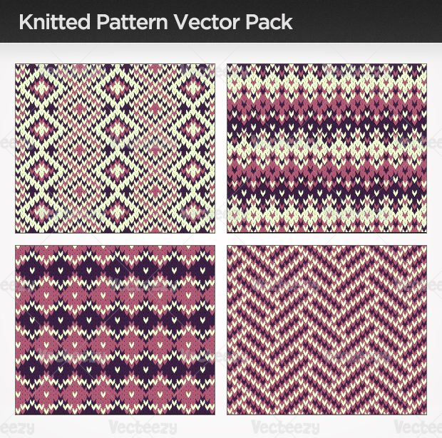Knitted Vector Pattern Pack - Vecteezy! - Download Free Vector Art, Stock Graphics & Images...