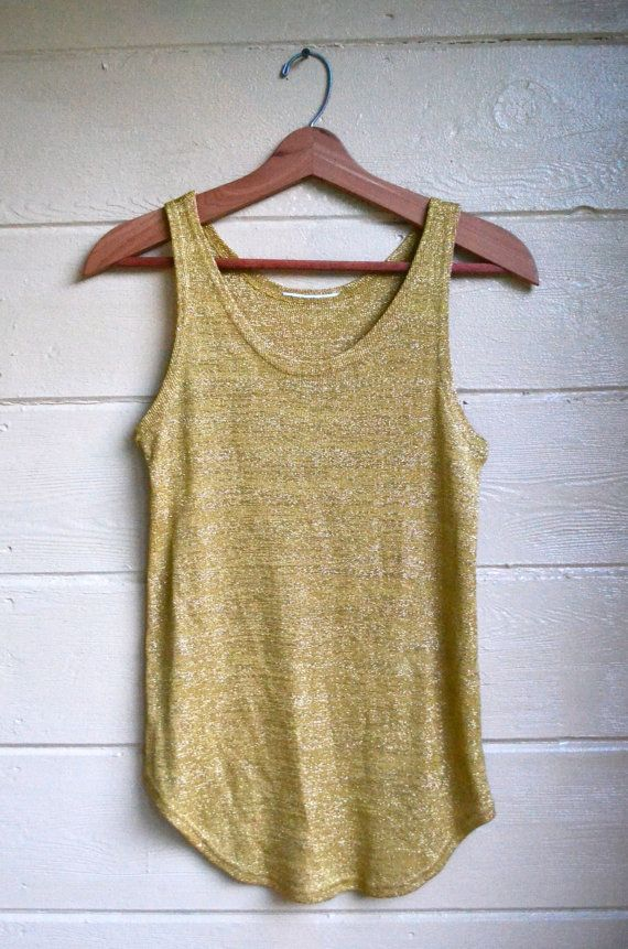 17 Images About Metallic Gold Tank Top On Pinterest