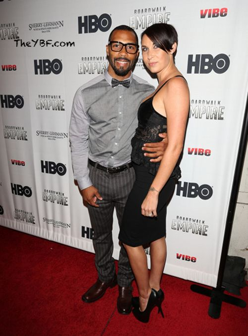 Omari Hardwick and his wife