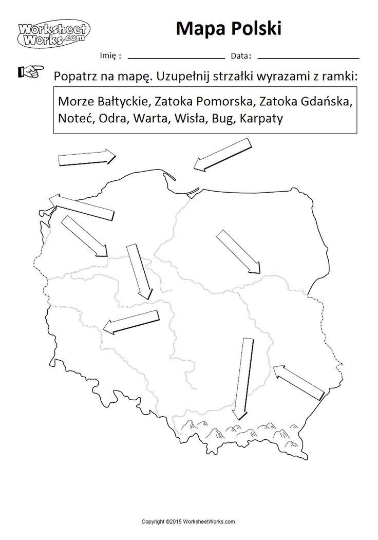 Mapa Polski + zadania