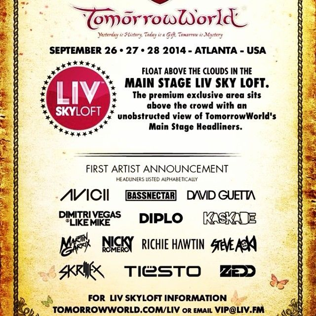 It's coming to Atlanta, I want to go!!! Hell yeah!!! ✅😍🙌🙌🙌😎👊✅#tomorrowworld #tomorrowworld2014 #rave #zedd #martingarrix #tiesto #avicii #davidguetta #steveaoki #awesome #sleepeatraverepeat #3daysoffun #Tomorrowworld Check more at http://www.voyde.fm/photos/random-instagram/its-coming-to-atlanta-i-want-to-go-hell-yeah-tomorrowworld-tomorrowworld2014-rave-zedd-martingarrix-tiesto-avicii-d/