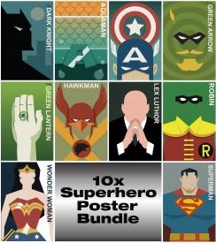 Superhero Posters 10x bundle