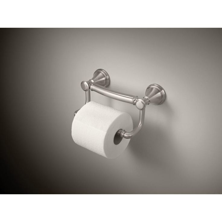 Delta Decor Assist Traditional Toilet Paper Holder with Assist Bar in Stainless-41350-SS - The Home Depot