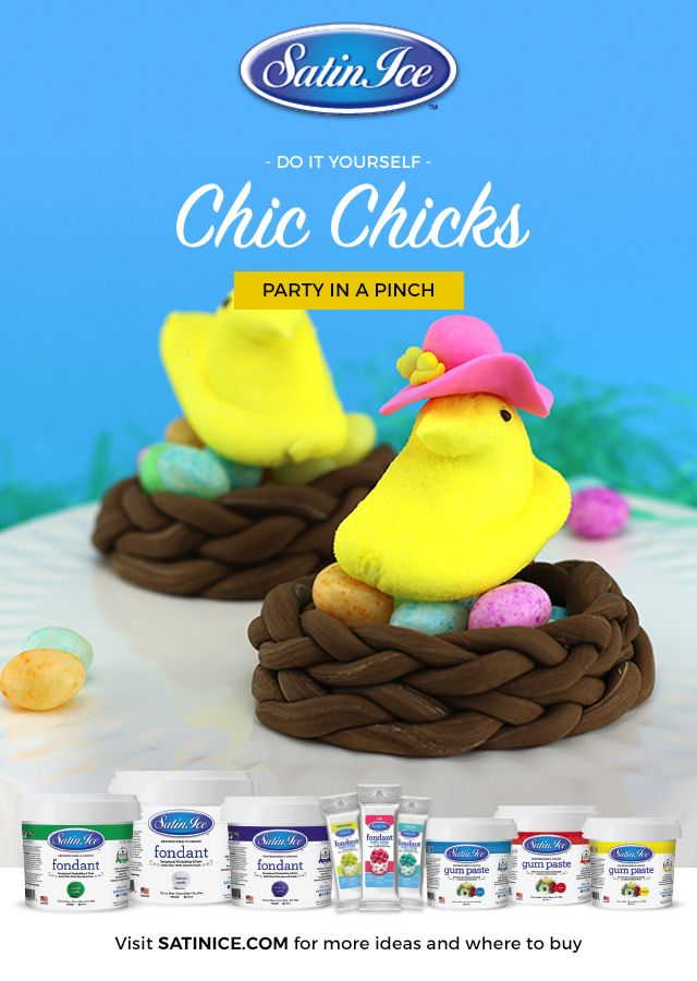 Not another peep, just sit down and eat! Satin Ice Fondant makes these tutorials easy and fun for the whole family!