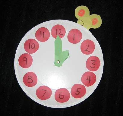 Hickory Dickory Dock Craft - great for learning numbers AND for learning rhymes.