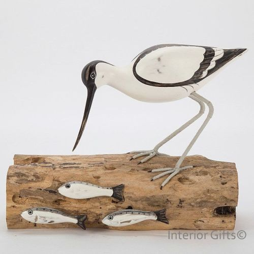 Archipelago Avocet Fishing Bird Wood Carving Carving Birds Wood