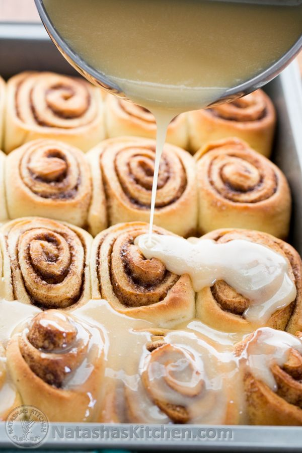Cinnamon Rolls with Salted Maple Glaze