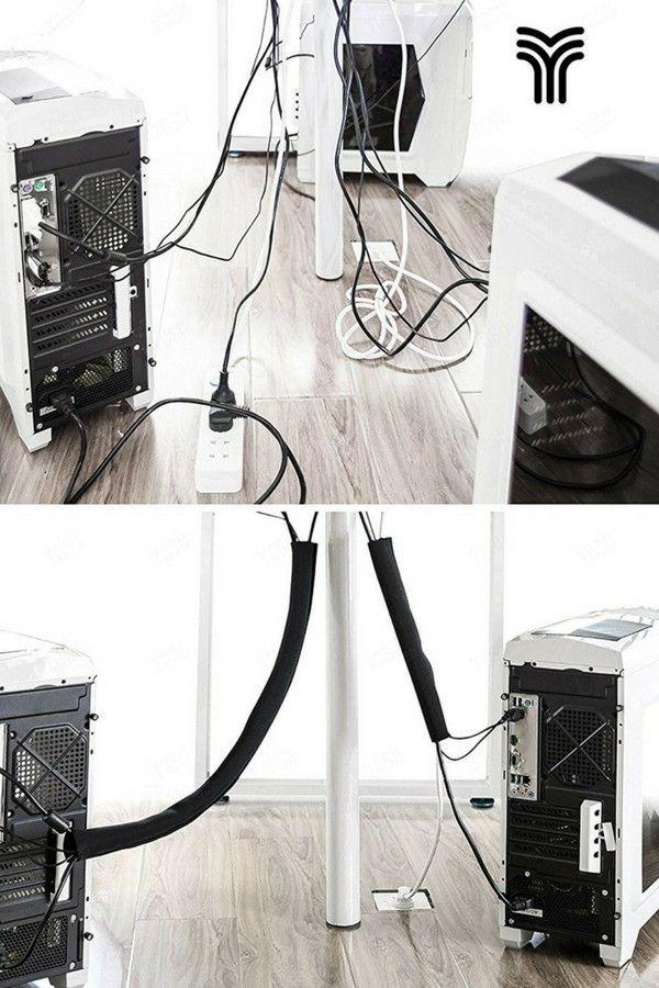 Cache Cables Flexible Yosh Cache Cable Rangement Rangement Maison
