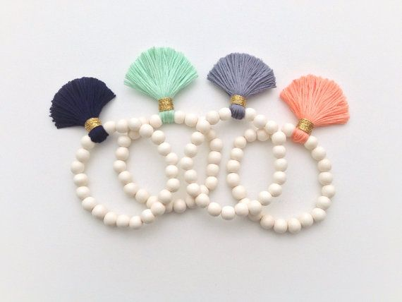 These whitewood tassel bracelets will take you to boho chic town any day of the week.