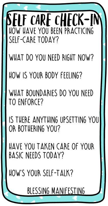 self-care check-in