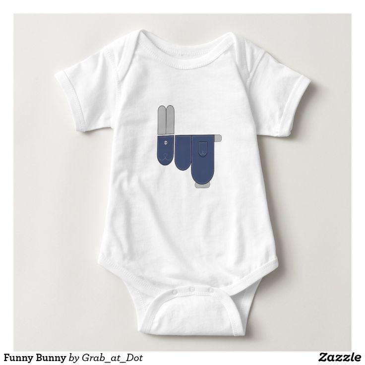 Funny Bunny Baby Bodysuit