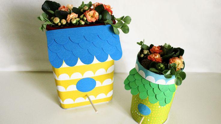 Linnunpöntöt | lasten | lapset | idea | askartelu | kädentaidot | käsityöt | kasvit | kukat | kesä | juhlat | karnevaalit | summer | party| carnivals | DIY | ideas | kids | children | crafts | home | flowers | plants | Pikku Kakkonen