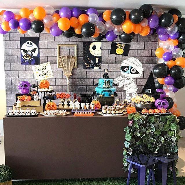 Festa de halloween ficou um arraso credito animepartyp - Fiesta halloween infantil ...