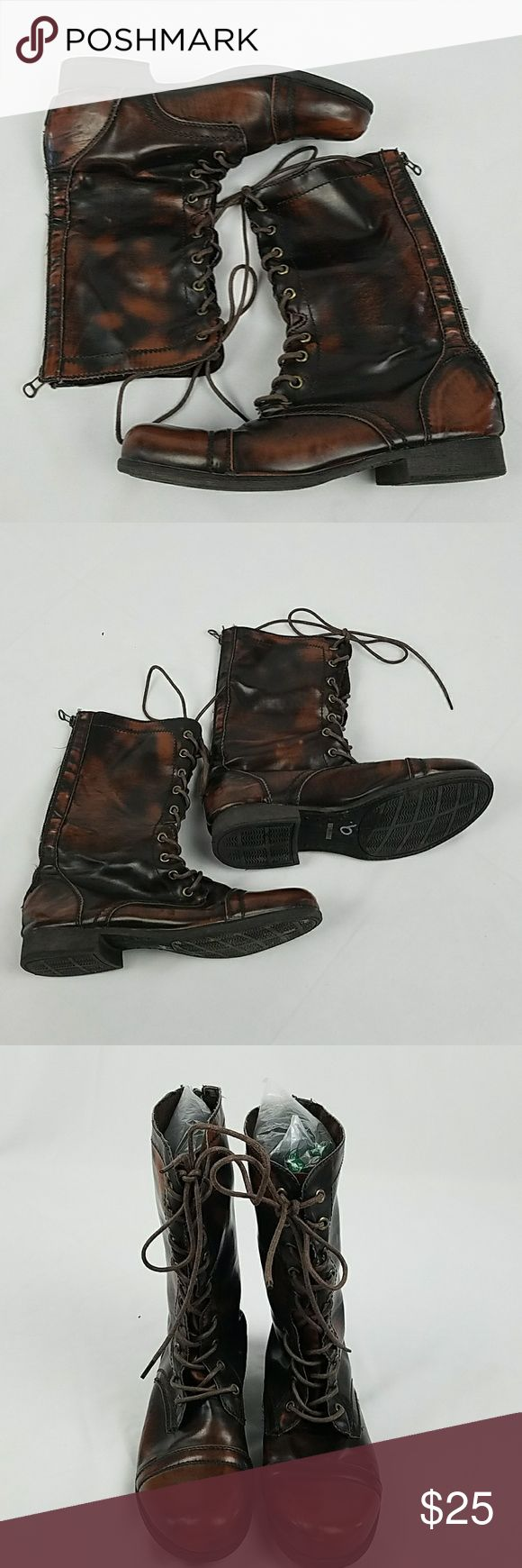 De Blossem Collection women 9 brown combat boots De Blossem Collection women 9 brown combat flat boots steampunk. De Blossom Collection Shoes Combat & Moto Boots