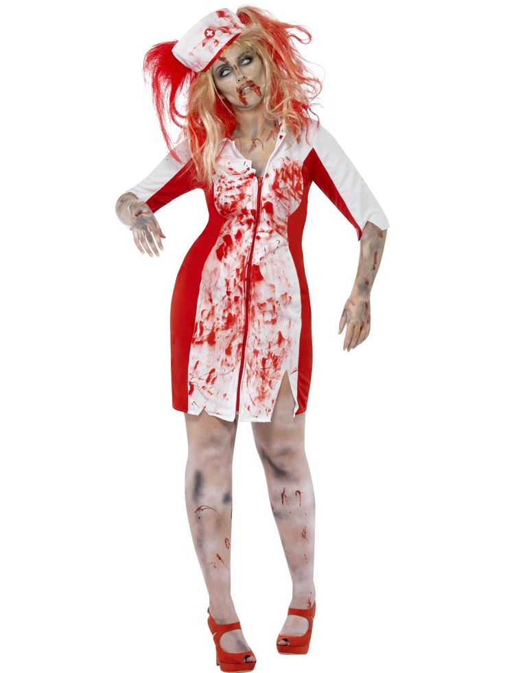 Women's Curves Zombie Nurse Costume