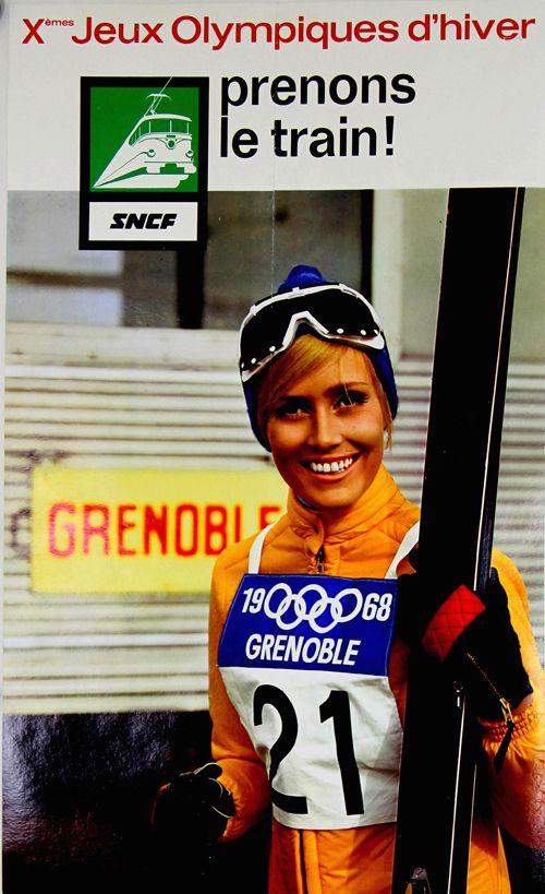 SNCF - Xèmes jeux olympiques d'hiver -   Grenoble - 1968 - (photo : Dewolf) -