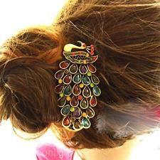 Haarschmuck Haar Clip Pfau Strass Haarnadel Legierung Haarspange Haarklammer