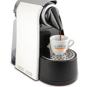 """Máquina """"Gran Riserva"""" para Caffè ESPRESSO con sistema capsula compatible  Doble botón para la erogación: un botón para un caffè espresso y un botón para un caffè lungo Programación de la cantidad de café (se puede elegir la cantidad de suministro, tanto para el fabricante de corto y café a lo largo ) Modo de ahorro de energía: La máquina entra en modo de reposo después de varios minutos de inactividad Programa de descalcificación."""