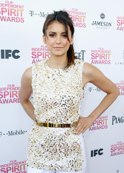All the Stars Arriving at the Spirit Awards: Nina Dobrev with one of the best looks on the carpet! Click for more.