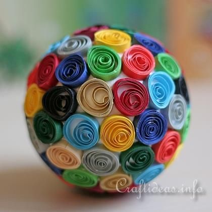 Quilled Styrofoam Ball